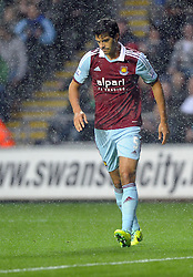 West Ham United's James Tomkins - Photo mandatory by-line: Joe Meredith/JMP - Tel: Mobile: 07966 386802 27/10/2013 - SPORT - FOOTBALL - Liberty Stadium - Swansea - Swansea City v West Ham United - Barclays Premier League