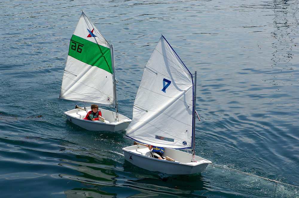 Miniature Sail Boats, Monterey Bay, Monterey, California, United States of America