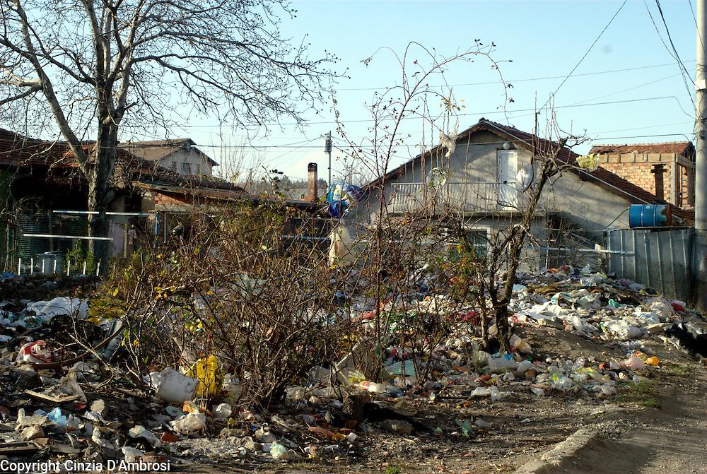 Fakulteta, the roma ghetto in Sofia in Bulgaria.