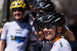 Anna Sanchis (Wiggle Hi5) - Emakumeen Saria - Durango-Durango 2016. A 113km road race starting and finishing in Durango, Spain on 12th April 2016.