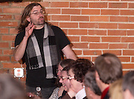 """Jerry Francis during Mayhem & Mystery's production of """"Tragedy in the Theater"""" at the Spaghetti Warehouse in downtown Dayton, Monday, February 28, 2011."""