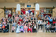 School pupils from Saint Rose of Lima take part in the Biggest Book Show on Earth at the Glasgow Royal Concert Hall. 27/02/2017.<br /> <br /> <br /> <br /> The Biggest Book Show on Earth is organised by World Book Day UK as part of the annual celebration of books and reading. This year the roadshow will visit Glasgow, Coventry, Barry, London and Dublin with an all-star line-up of over 30 authors and illustrators, giving over 6,000 children the opportunity to see their literary heroes in person. Around 2,000 local primary school children will attend the Glasgow event at the Royal Concert Hall.