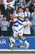 Loftus Road, London - Saturday 11th September 2010: Hogan Ephraim (25) of QPR (L) celebrates scoring their second goal with Bradley Orr (2) of QPR (R) during the Npower Championship match between Queens Park Rangers and Middlesborough. (Photo by Andrew Tobin/Focus Images)