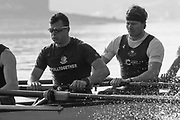 Putney, London,  Tideway Week, Championship Course. River Thames, OUBC, Oxford<br /> Right to Left.   5: Olivier Siegelaar – NED, 6: Michael DiSanto USA.<br /> Tuesday  28/03/2017<br /> [Mandatory Credit; Credit: Peter Spurrier/Intersport Images.com]