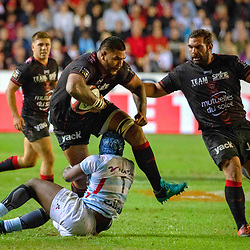 Romain Taofifenua of Toulon during Top 14 match between Toulon and Racing 92 on August 25, 2018 in Toulon, France. (Photo by Henri/Icon Sport)