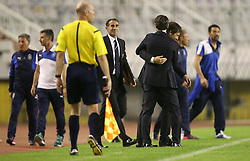 12.06.2015, Stadion Poljud, Split, CRO, UEFA Euro 2016 Qualifikation, Kroatien vs Italien, Gruppe H, im Bild Niko Kovac, Antonio Conte // during the UEFA EURO 2016 qualifier group H match between Croatia and and Italy at the Stadion Poljud in Split, Croatia on 2015/06/12. EXPA Pictures © 2015, PhotoCredit: EXPA/ Pixsell/ Igor Kralj<br /> <br /> *****ATTENTION - for AUT, SLO, SUI, SWE, ITA, FRA only*****