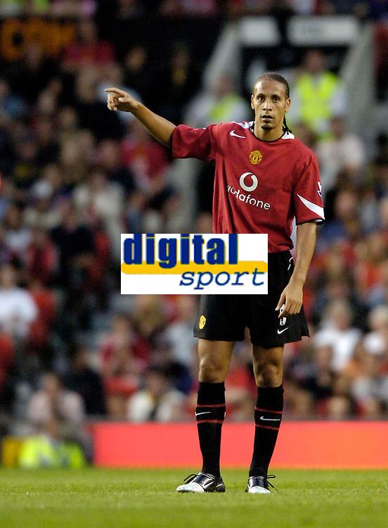 Fotball<br /> England 2005/2006<br /> Foto: SBI/Digitalsport<br /> NORWAY ONLY<br /> <br /> Manchester United v Debrecen VSC. UEFA Champions League Qualifier.<br /> 09/08/2005.<br /> <br /> Manchester United's Rio Ferdinand