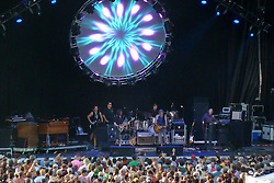 The Band and Show Lights from the back of the Stadium. Furthur Band at McCoy Stadium, Pawtucket RI on 5 July 2012