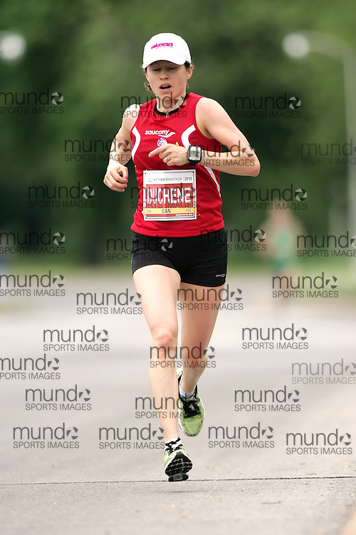 (Ottawa, ON --- May 30, 2010) KRISTA DUCHENE running in the marathon during the Ottawa Race Weekend. Photograph copyright Sean Burges / Mundo Sport Images