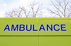 A stock picture of an Ambulance badge logo in Dublin. PRESS ASSOCIATION Photo. Picture date: Wednesday January 16, 2019. Photo credit should read: Niall Carson/PA Wire