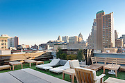 The roof terrace of a private home at 15 Mercer Street, Soho, New York City.