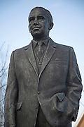 Sir Alf Ramsey statue, Portman Road, Ipswich, Suffolk, England