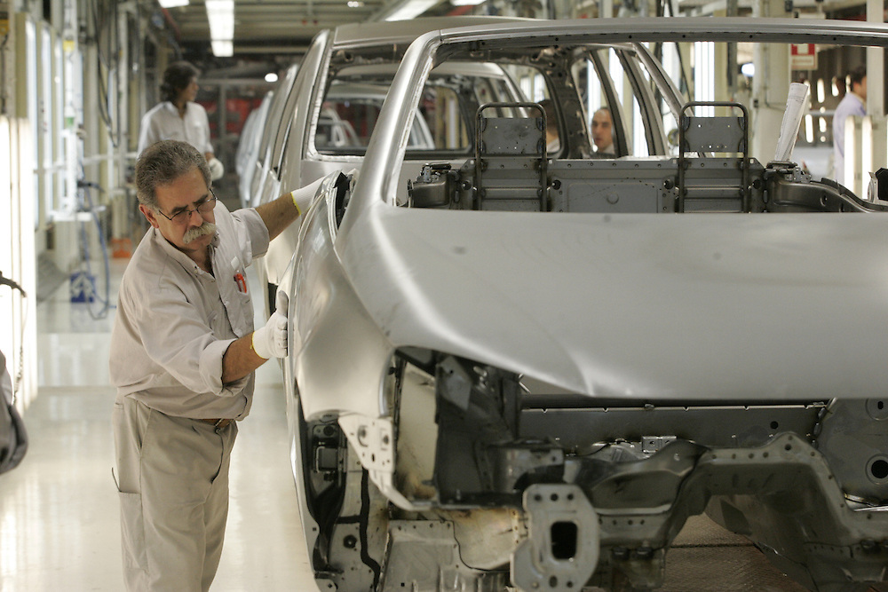 Autoeuropa Volkswagen factory in Palmela, Portugal, where EOS, Sharan and Alhambra of Seat are produced.