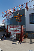 View of the main stand at the Northern Commercials Stadium before the EFL Sky Bet League 1 match between Bradford City and Bristol Rovers at the Northern Commercials Stadium, Bradford, England on 2 September 2017. Photo by Paul Thompson.