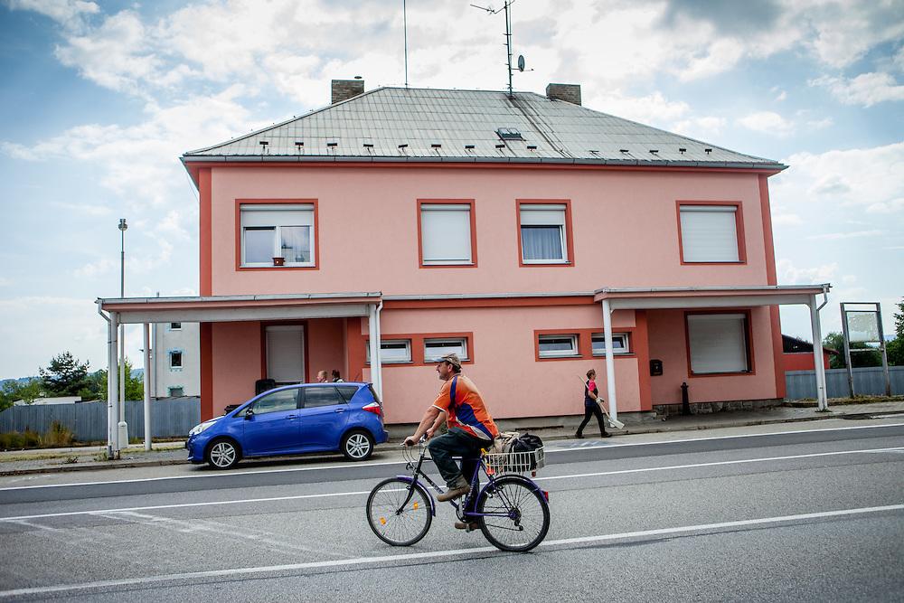 Ein Teil der ehemaligen Grenzstation in Dolni Dvoriste - von 1955 bis 1989 lag der Ort am Eisernen Vorhang.