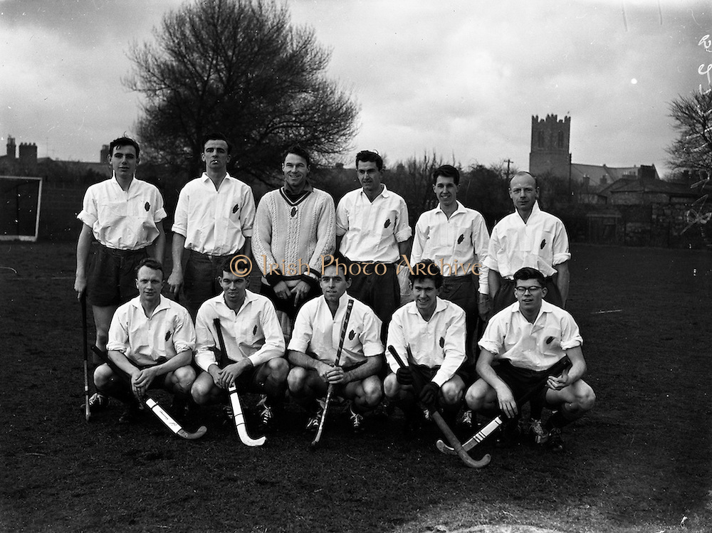 16/01/1960<br /> 01/16/1960<br /> 16 January 1960<br /> Interprovincial Mens Hockey: Ulster v Connaught. The Ulster team that defeated Connaught by six goals to nil in the Mens Senior Hockey Interprovincial at Londonbridge Road, Dublin.