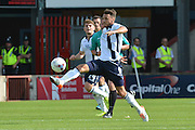 Lee Gregory  during the Sky Bet League 1 match between Scunthorpe United and Millwall at Glanford Park, Scunthorpe, England on 22 August 2015. Photo by Ian Lyall.