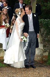 TOM PARKER BOWLES and his bride SARA BUYS at the wedding of Tom Parker Bowles to Sara Buys at St.Nicholas Church, Rotherfield Greys, Oxfordshire on 10th September 2005.<br /><br />NON EXCLUSIVE - WORLD RIGHTS