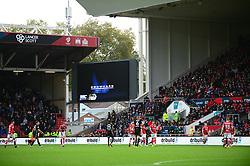 Showcase Cinema advertising on the screen - Mandatory by-line: Dougie Allward/JMP - 21/10/2017 - FOOTBALL - Ashton Gate Stadium - Bristol, England - Bristol City v Leeds United - Sky Bet Championship