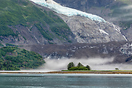 Serpentine Glacier and Serpentine Cove in Harriman Fjord in Southcentral Alaska. Summer. Morning.