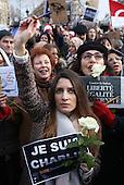Charlie Hebdo Sunday mass demonstration Republique