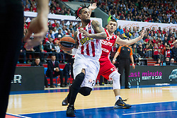 Daniel Hackett of Olympiacos during Euroleague basketball match in 6th Round of Group B between KK Cedevita Zagreb and Olympiacos Piraeus, on November 19, 2015, in Drazen Petrovic basketball hall, Zagreb, Croatia.