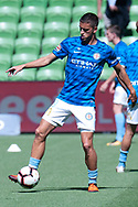 MELBOURNE, VICTORIA - JANUARY 06: Melbourne City midfielder Lachlan Wales (19) warms up at the Hyundai A-League Round 11 soccer match between Melbourne City FC and Newcastle Jets on at AAMI Park in NSW, Australia 06 January 2019. (Photo by Speed Media/Icon Sportswire)