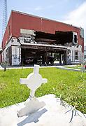 Cemetery near Port Sulphur's municipal buildings that were abandoned after Hurricane Katrina; along south Louisiana's Highway 23 near Port Sulphur