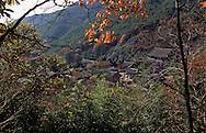 Hwaomsa temple Shogye Zen sect, in the Chirisan park  Seoul  Korea   temple bouddhiste de Hwaomsa, secte zen Shogye, parc de Chirisan  Hwaemsa  coree  ///R20134/    L0006883  /  R20134  /  P105119///Niche au coeur de forêts de pins et de théiers sauvages plantés en 850, le temple de la guirlande de fleurs, Hwaeom-sa, abrite le JANGYUK JEON, l'un des plus grands halls bouddhiques de Corée.