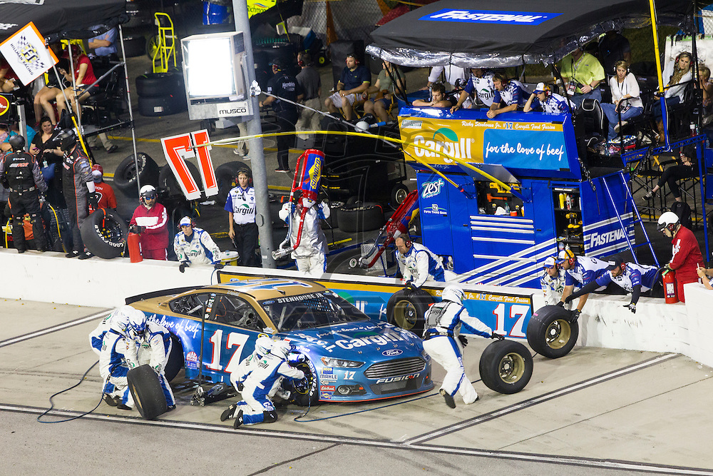 Darlington, SC - Sep 06, 2015:  The NASCAR Sprint Cup Series teams take to the track for the Bojangles' Southern 500 at Darlington Raceway in Darlington, SC.