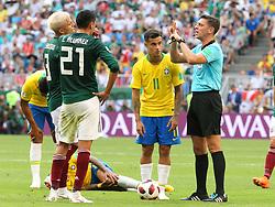 July 2, 2018 - Samara, Russia - July 2, 2018, Russia, Samara, FIFA World Cup 2018, 1/8 finals. Football match of Brazil - Mexico at the stadium Samara - Arena. Chief Justice Gianluca Rocch (Credit Image: © Russian Look via ZUMA Wire)