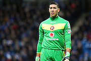 Walsall FC goalkeeper Neil Etheridge during the The FA Cup match between Chesterfield and Walsall at the Proact stadium, Chesterfield, England on 5 December 2015. Photo by Aaron Lupton.