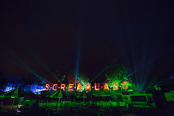 """@Licensed to London News Pictures 14/10/16. Margate, Kent. Professional actors portray numerous scare characters at Screamland in Margate today. For the second year in a row Dreamland Margate will be transformed into the award winning """"Screamland"""" the regions largest scare festival with fully immersive scare experiences throughout the park. Photo credit: Manu Palomeque/LNP"""