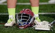 "7 MAY 2009 -- CREVE COEUR, Mo. -- Lacrosse players from St. Louis University High School and DeSmet Jesuit High School donned lime green socks and shoe laces during the 7th annual Father Marco Cup to help raise money for the HEADstrong Foundation, a non-profit founded by college lacrosse player Nicholas""Head"" Colleluori to help those fighting lymphoma and other blood cancers. SLUH topped DeSmet 13-10 in the annual game. Image © copyright 2011 Sid Hastings."