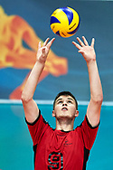 Katowice, Poland - 2017 September 01: Athlete Dennis Kutzner from SO Germany receives the ball while SO Germany v SO Slovakia match during European Unified Volleyball Tournament 2017 at Spodek Hall on September 01, 2017 in Katowice, Poland.<br /> <br /> Adam Nurkiewicz declares that he has no rights to the image of people at the photographs of his authorship.<br /> <br /> Picture also available in RAW (NEF) or TIFF format on special request.<br /> <br /> Any editorial, commercial or promotional use requires written permission from the author of image.<br /> <br /> Image can be used in the press when the method of use and the signature does not hurt people on the picture.<br /> <br /> Mandatory credit:<br /> Photo by © Adam Nurkiewicz / Mediasport