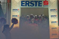 11.12.2011, Stadthalle, Klagenfurt, AUT, EBEL, EC KAC vs Moser Medical Graz 99ers, im Bild Mannschaftseinlauf KAC, EXPA Pictures © 2011, PhotoCredit: EXPA/ Gert. Steinthaler