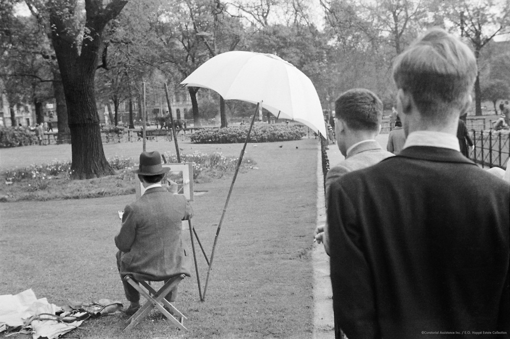 Park Scenes, Children Feeding Birds, London, 1934