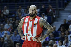 December 1, 2017 - Madrid, Madrid, Spain - ANTIC PERO of Crvena Zvezda Mts Belgrade reacts during the 2017/2018 Turkish Airlines Euroleague Regular Season Round 10 game between Real Madrid v Crvena Zvezda mts Belgrade at Wizink Arena on December 1, 2017 in Madrid, Spain. (Credit Image: © Oscar Gonzalez/NurPhoto via ZUMA Press)