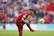 SUNDSVALL, SWEDEN - MAY 19: Hosam Aiesh of Ostersunds FK during the Allsvenskan match between GIF Sundsvall and Ostersunds FK at Idrottsparken on May 19, 2018 in Sundsvall, Sweden. Photo: Nils Petter Nilsson/Ombrello ***BETALBILD***