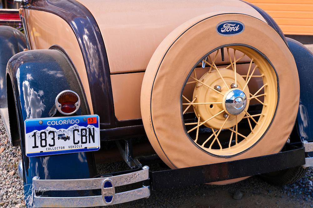 Historic Ford car, Silverton, Colorado USA