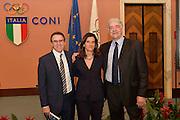 DESCRIZIONE : Roma Basket Day Hall of Fame 2014<br /> GIOCATORE : Carlo Recalcati Mara Fullin Fabrizio Della Fiori<br /> SQUADRA : FIP Federazione Italiana Pallacanestro <br /> EVENTO : Basket Day Hall of Fame 2014<br /> GARA : Roma Basket Day Hall of Fame 2014<br /> DATA : 22/03/2015<br /> CATEGORIA : Premiazione<br /> SPORT : Pallacanestro <br /> AUTORE : Agenzia Ciamillo-Castoria/GiulioCiamillo