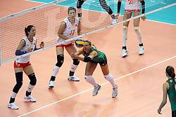 Azerbaijan Oksana Kurt digs a ball
