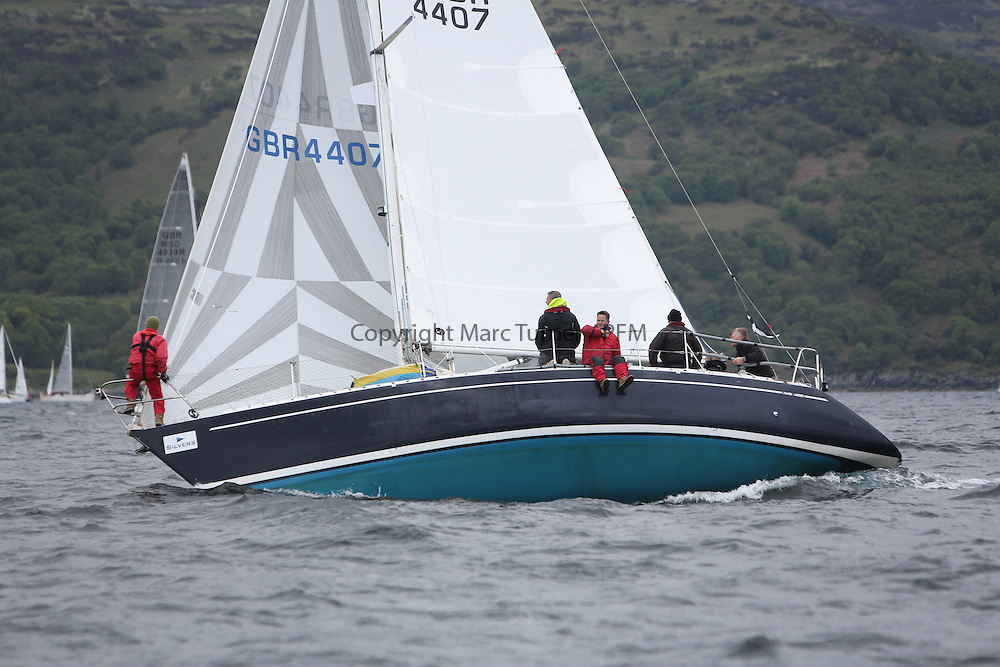 The Silvers Marine Scottish Series 2014, organised by the  Clyde Cruising Club,  celebrates it's 40th anniversary.<br /> Day 2, GBR4407, Sequoia, Andrew Scott, Western Isles YC, Maxi Mixer<br /> Racing on Loch Fyne from 23rd-26th May 2014<br /> <br /> Credit : Marc Turner / PFM