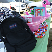 LIBBY EZELL | BUY AT PHOTOS.DJOURNAL.COM<br /> Free backpacks filled with school supplies were given out to children ages 0-12 Saturday