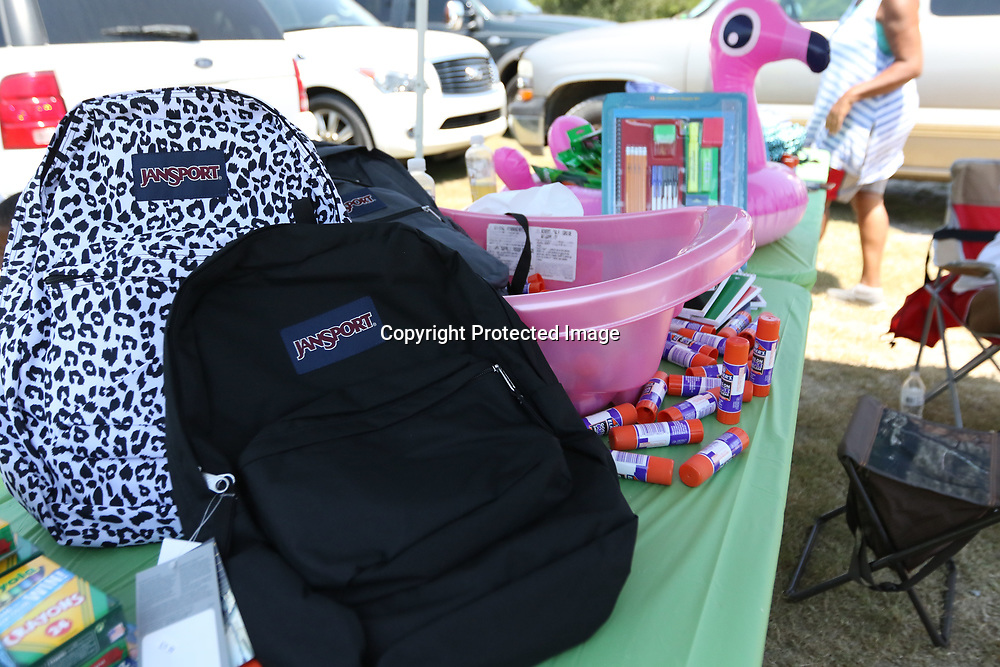 LIBBY EZELL   BUY AT PHOTOS.DJOURNAL.COM<br /> Free backpacks filled with school supplies were given out to children ages 0-12 Saturday