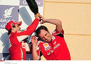 Grand prix de Bahraïn 2010..Circuit de shakir. 14 mars 2010..Course..Photo Stéphane Mantey/ L'Equipe. *** Local Caption *** massa (felipe) - (bre) -..domenicali (stefano)