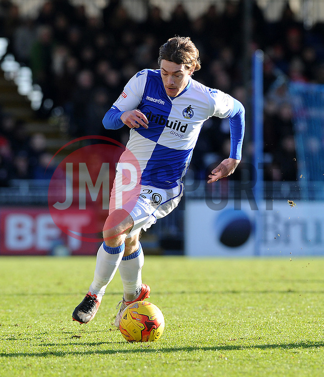 Luke James of Bristol Rovers - Mandatory by-line: Neil Brookman/JMP - 28/01/2017 - FOOTBALL - Memorial Stadium - Bristol, England - Bristol Rovers v Swindon Town - Sky Bet League One