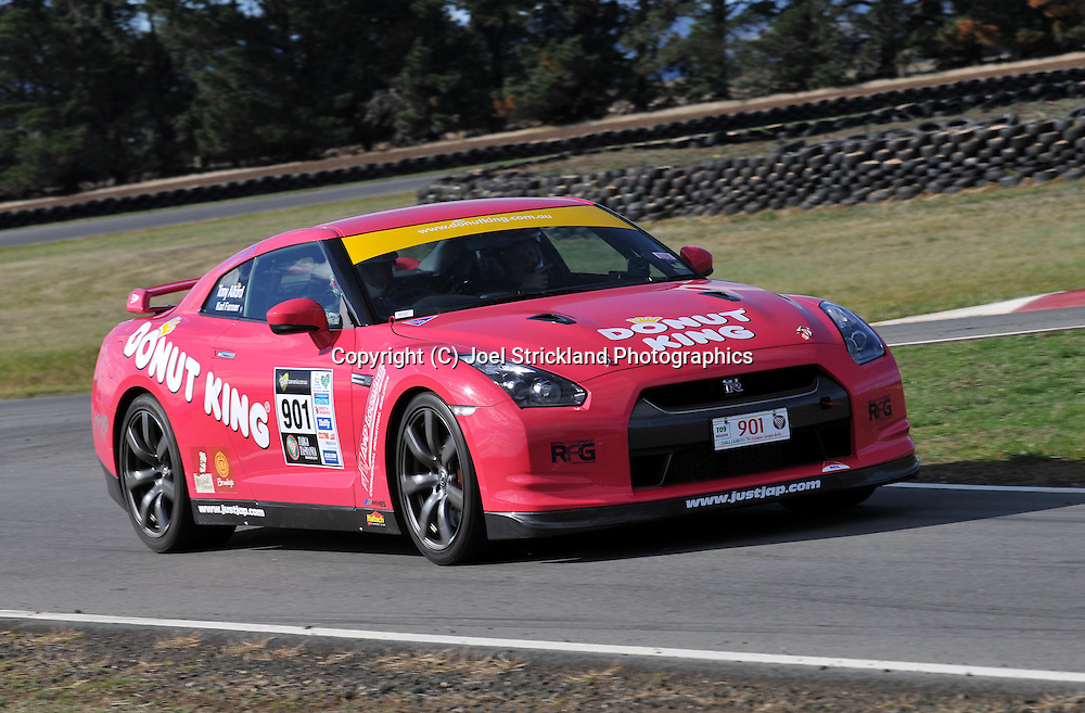 Tony Alford & Karl Farmer .2007 Nissan GTR.Media Day .Symmons Plains .Targa Tasmania 2009.27th of April 2009.(C) Joel Strickland Photographics.