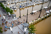 "WASHINGTON DC - June, 8: Patrons explore the District Wharf in the Southwest Waterfront neighborhood of Washington DC Friday, June 8, 2018. <br /> <br /> The Wharf is DC's latest attempt to be a ""real"" city. It took multiple agencies and act of congress to get it built. Did they repeat the mistakes of urban renewal (which moved lower income people out of the neighborhood)? Yes and no. People will still be driven out, but this time around the neighborhood is integrated more.<br /> (Photo by Matt Roth for The Washington Post)"