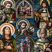 Stained Glass Window of saints in &quot;The Church of St. Veronica&quot;.<br /> <br /> The Church of is a Roman Catholic parish church in New York, located at 153 Christopher Street between Greenwich and Washington Streets in the West Village area of the Greenwich Village.